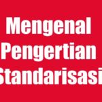 Pengertian standarisasi