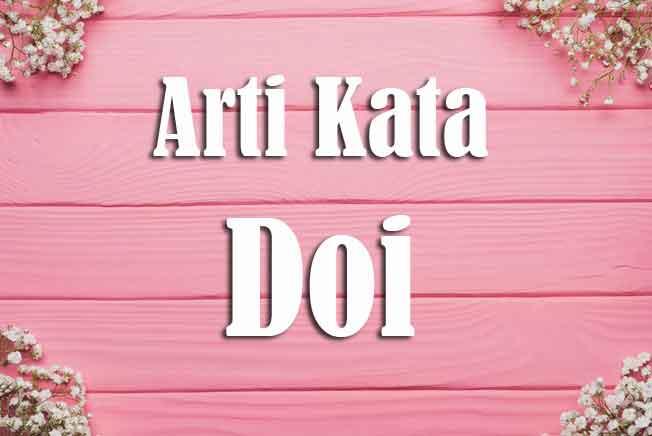 arti kata doi