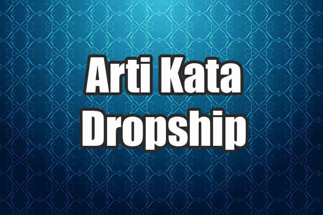 Arti Kata dropship