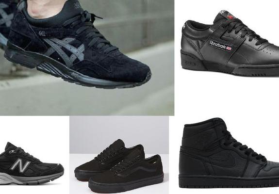 sepatu sekolah hitam polos
