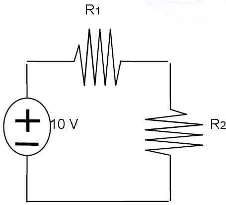 gambar rancangan lampu seri sederhana