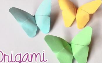 Cara Membuat Kupu-Kupu Dari Kertas Lipat
