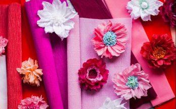 Cara Membuat Bunga dari Kertas Crepe