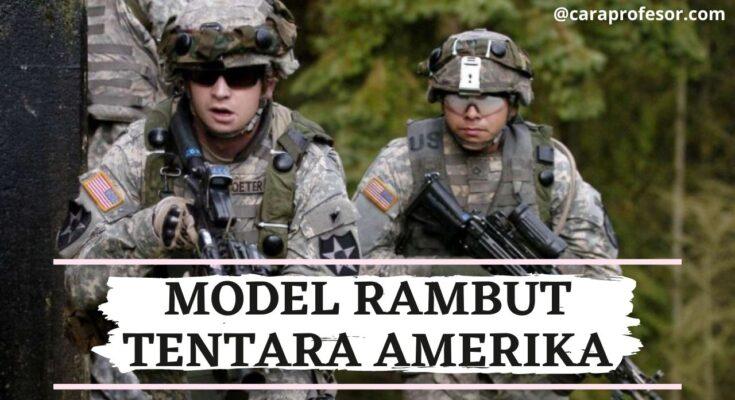 model rambut tentara amerika