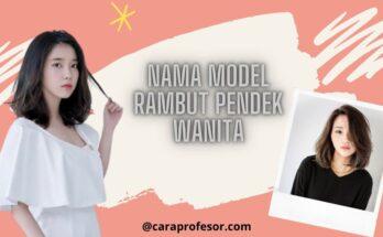 nama model rambut pendek wanita