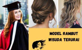 model rambut wisuda terurai