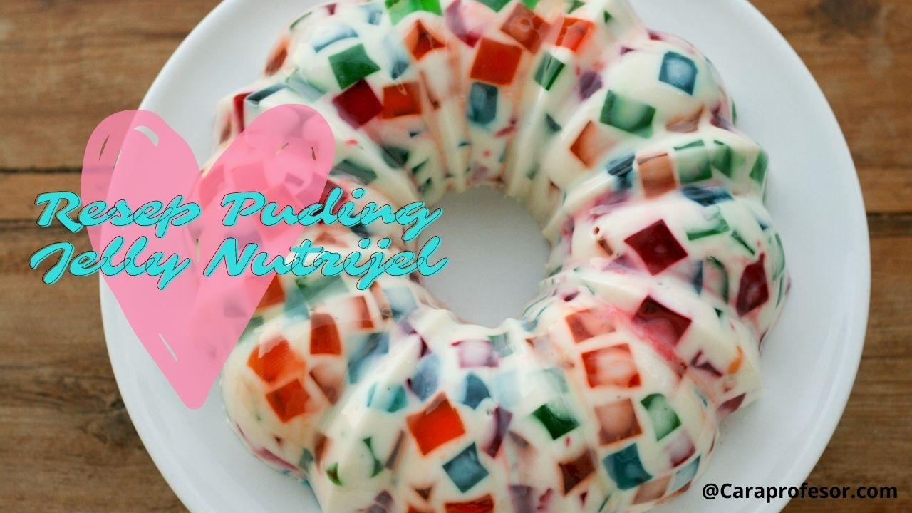 resep puding jelly nutrijel