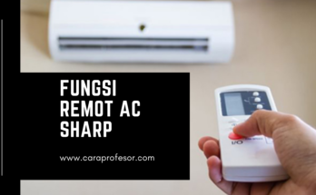 fungsi remot ac sharp