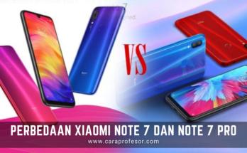 perbedaan xiaomi note 7 dan note 7 pro