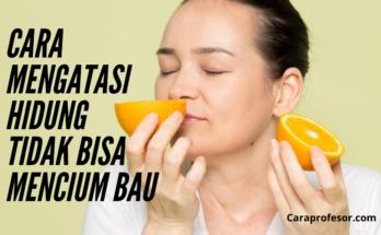 cara mengatasi hidung tidak bisa mencium bau