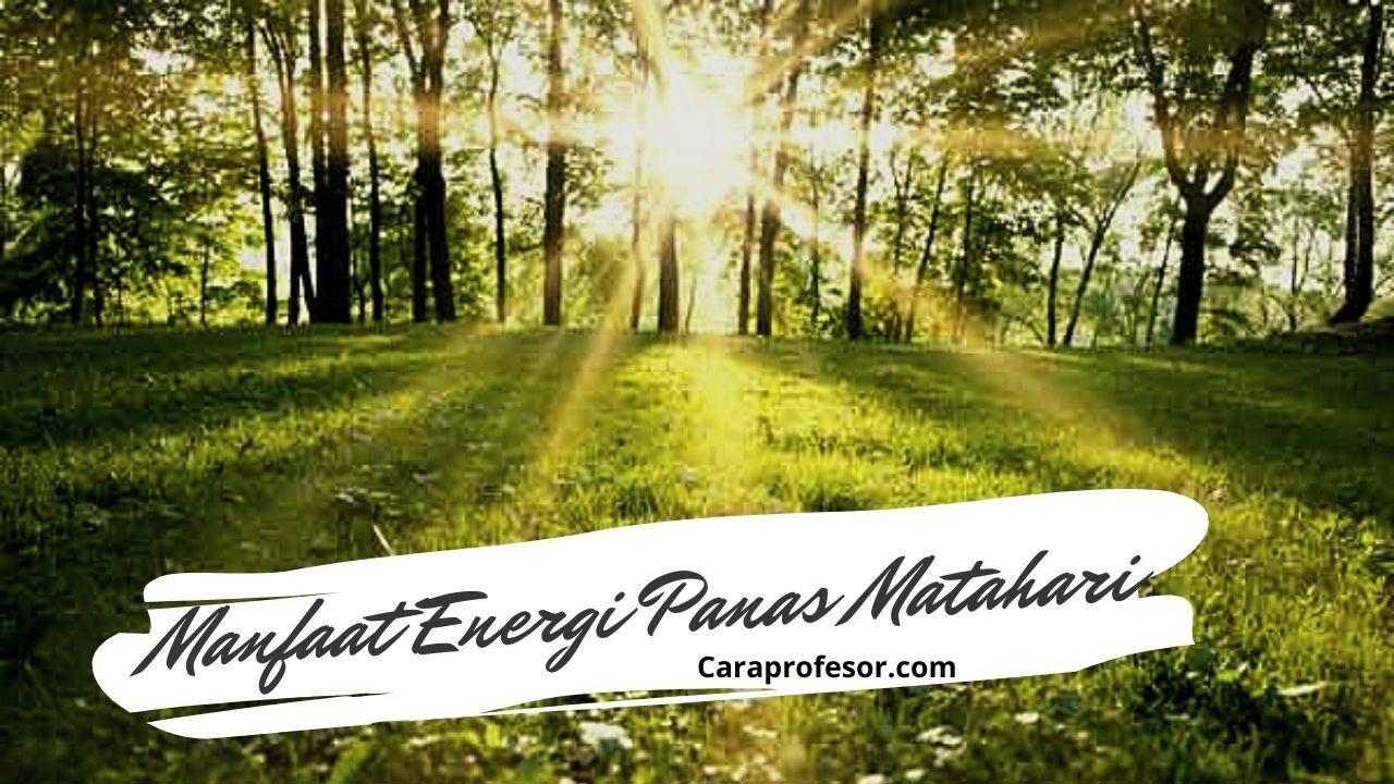manfaat energi panas matahari